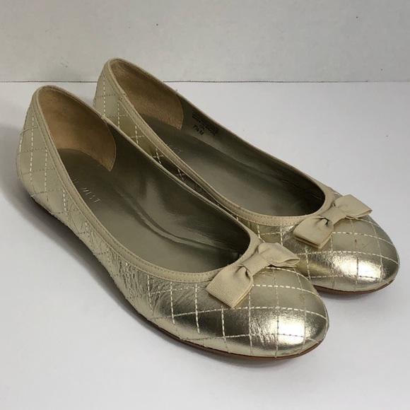 Nine Nine Nine West Schuhes   Gold Ballerina Flats 75m Lakelandr   Poshmark 320df5